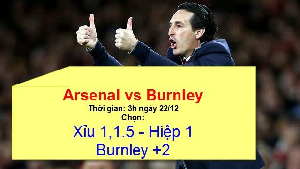 Đặt cược tốt nhất Ngoại Hạng Anh vòng 18: Arsenal vs Burnley