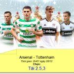 Cá cược Dafabet: Kèo Tài xỉu trận Arsenal – Tottenham (League Cup)