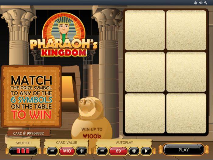 top-6-game-bai-cao-hay-nhat-tai-dafabet-2019-Pharaoh's Kingdom Scratch 1