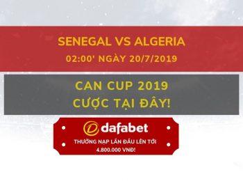 Chung kết CAN 2019: Gợi ý đặt cược Senegal vs Algeria: Nhà cái Dafabet ngày 20/07