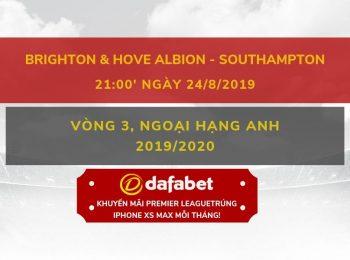 Brighton vs Southampton (24/8)