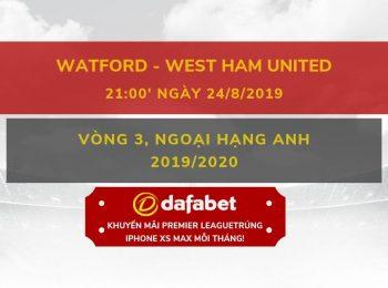 Watford vs West Ham (24/8)