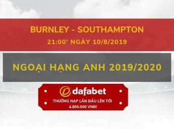 Burnley vs Southampton (10/8)