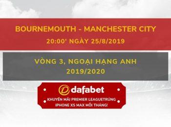 Bournemouth vs Man City 25/8