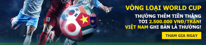 Dafabet khuyến mãi tặng 2.500.000 VNĐ trận đặt cược cho ĐT Việt Nam - thưởng mỗi bàn thắng VN ghi được