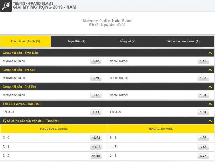 [US Open] Medvedev - Nadal truc tiep
