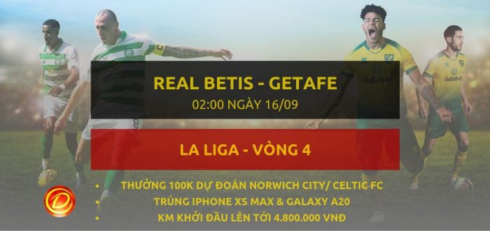 Real Betis vs Getafe 16/9