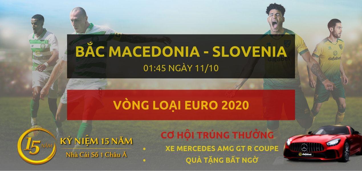 Bắc Macedonia - Slovenia-Vong loai Euro 2020-11-10