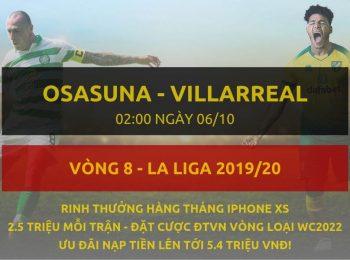 Osasuna vs Villarreal 6/10
