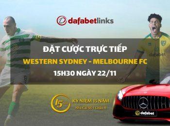 Western Sydney – Melbourne City FC (15h30 ngày 22/11)